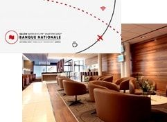 Montreal Airport – Swissport – National Bank Lounge